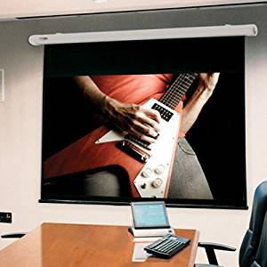 """Salara HW Radiant Electric Projection Screen Viewing Area: 50"""" H x 50"""" W"""