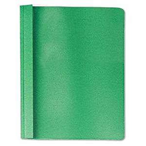"""Universal - Clear Front Report Cover Tang Fasteners Letter Size Green 25/Box """"Product Category: Binders & Binding Systems/Report Covers & Pocket Portfolios"""""""