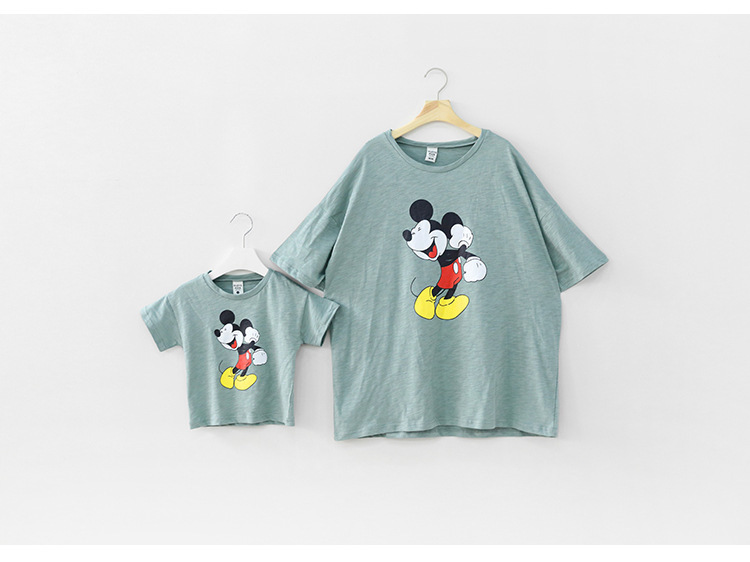 summer style family matching outfits t-shirts, mother daughter/son clothes fashion tees of high quality cotton tops family pack