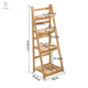 Plant Stand 3/4 Tier Wooden Platform Garden Outdoor Flower Shelf