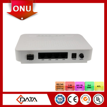FTTH epon onu modem with 4 FE and 1 GE for FTTx solutions
