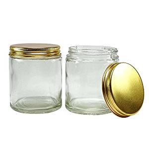 Get Quotations · 16 Pcs Clear Glass Jar With Golden Cap Mason Jars  Refillable Cosmetic Containers Wholesale Aromatherapy Jars
