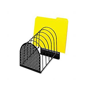 Fellowes : Perf-Ect Step File, Seven Sections, Metal/Wire, 7w x 9 7/8d x 9 1/8h, Black -:- Sold as 2 Packs of - 1 - / - Total of 2 Each