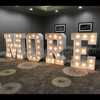 Giant light up numbers and alphabets led marquee letters for party stage decorations