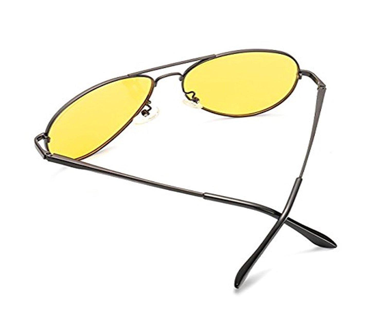 WH Vintage Polarized John Lennon Sunglasses Hippie Retro Round Gold Black Glasses