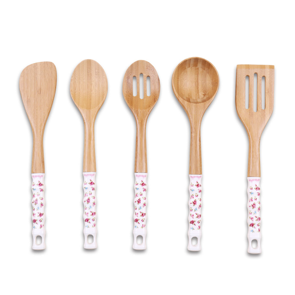 Cathylin Wooden Kitchen Tool Set,Ceramics Handle Colored Kitchen Utensils -  Buy Kitchen Tool Set,Wooden Kitchen Tool Set,Kitchen Utensil Product on ...