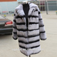 Factory Direct Wholesale Price Rex Chinchilla Fur Coat / Chinchilla Rex Rabbit Fur Coat