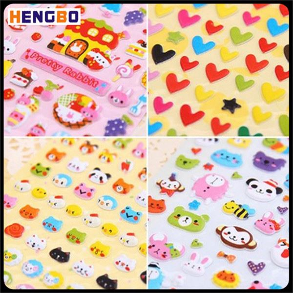 Foreign trade high quality 3d craft foam stickers for kids game with many colors