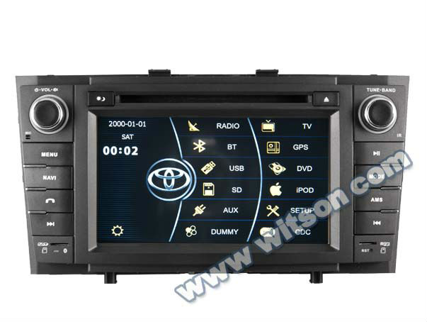 WITSON TOYOTA AVENSIS double din car radio with touch screen