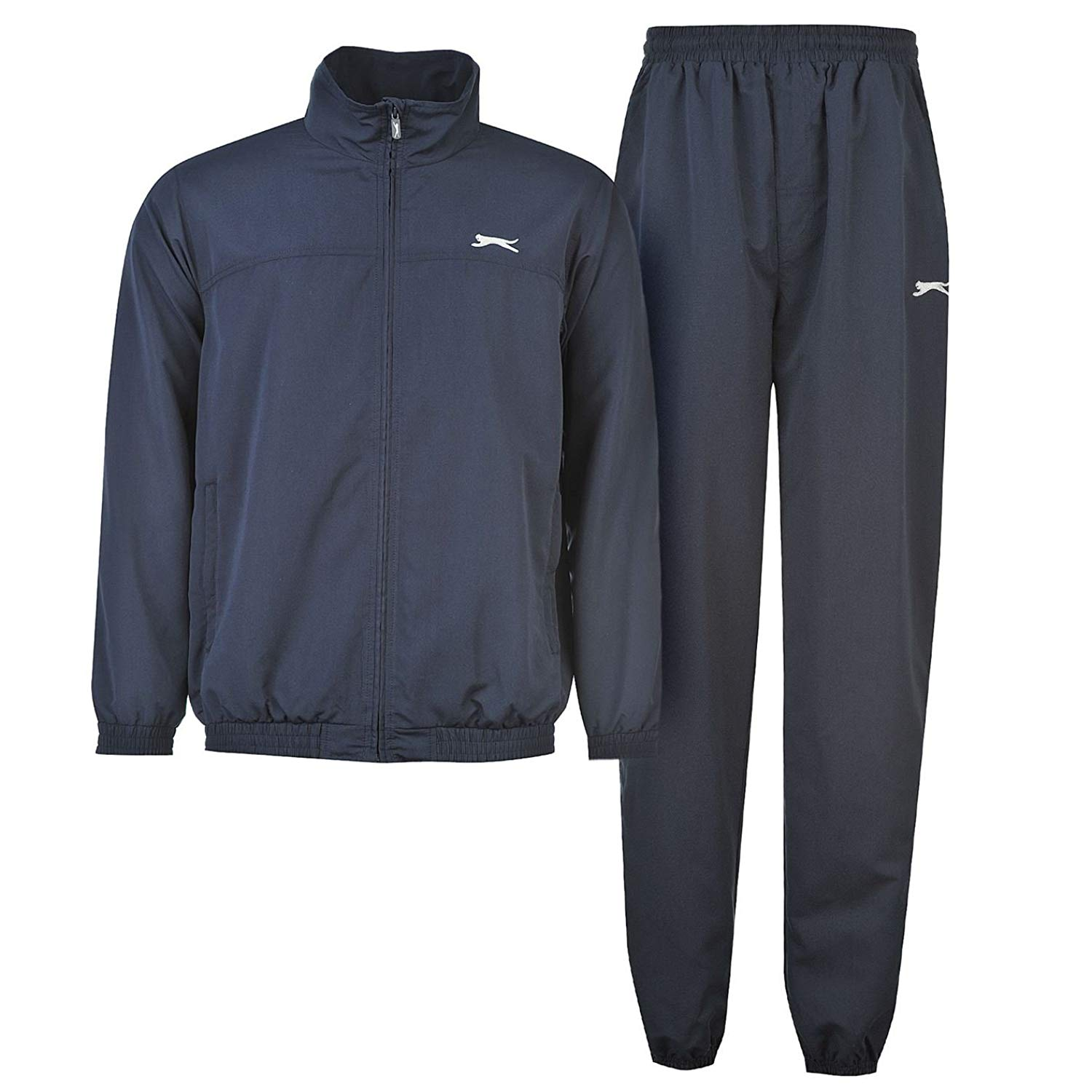 Slazenger Mens Woven Suit Tracksuit Long Sleeve Zip Top and Bottoms