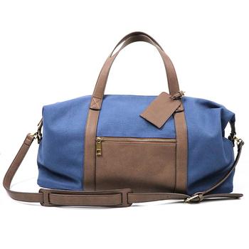 0f9e5757930 Пользовательские Холст кожаная сумка чемодан duffle Большой ёмкость модные дорожные  сумки