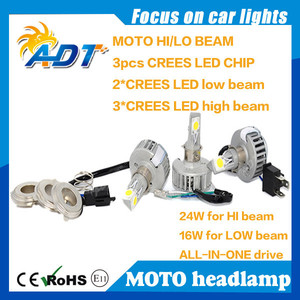 For suzuki for honda for yamaha LED motorcycle headlight H4 H6 H7 PH11 HS5