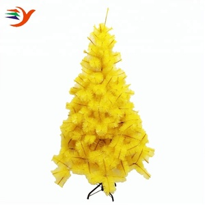 3ft colorful pine needle outdoor bright yellow christmas tree