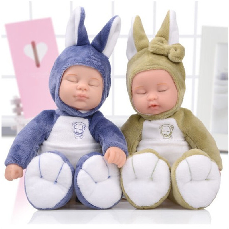 10 inch plush soft sleeping baby doll for babies