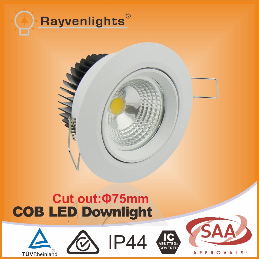 TUV CE approval 7W cut out 75mm led cob downlight