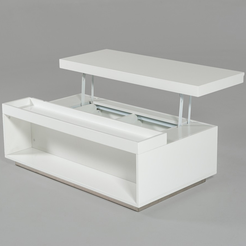 Hot Selling Adjustable Height Lift Top Coffee Table In White High Gloss Buy Adjustable Height Lift Top Coffee Tables Hydraulic Lift Coffee Tables Coffee Tables Mdf Product On Alibaba Com