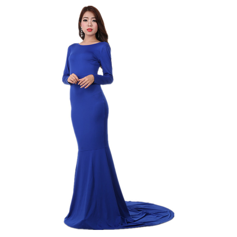 2015 Mermaid Celebrity Evening Long Gowns Long Sleeve ...