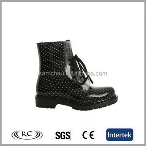 stylish china lace design plastic men's rain stylish boots