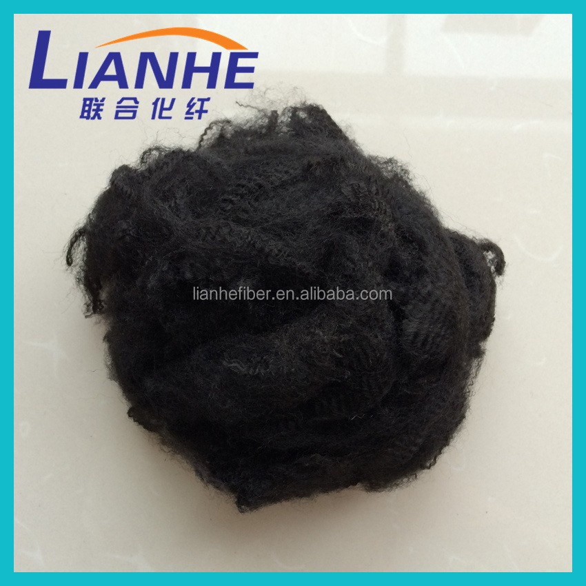Recycled Polyester staple fibre fiber / PSF 1.4D*38MM PET Material plant