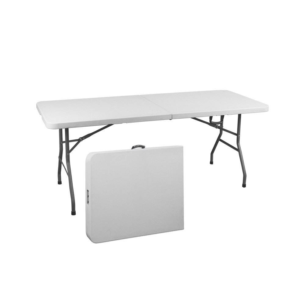 Get Quotations · Vispronet Resin Multipurpose Rectangle Table   Center  Folding With Locking Legs (6 Feet)