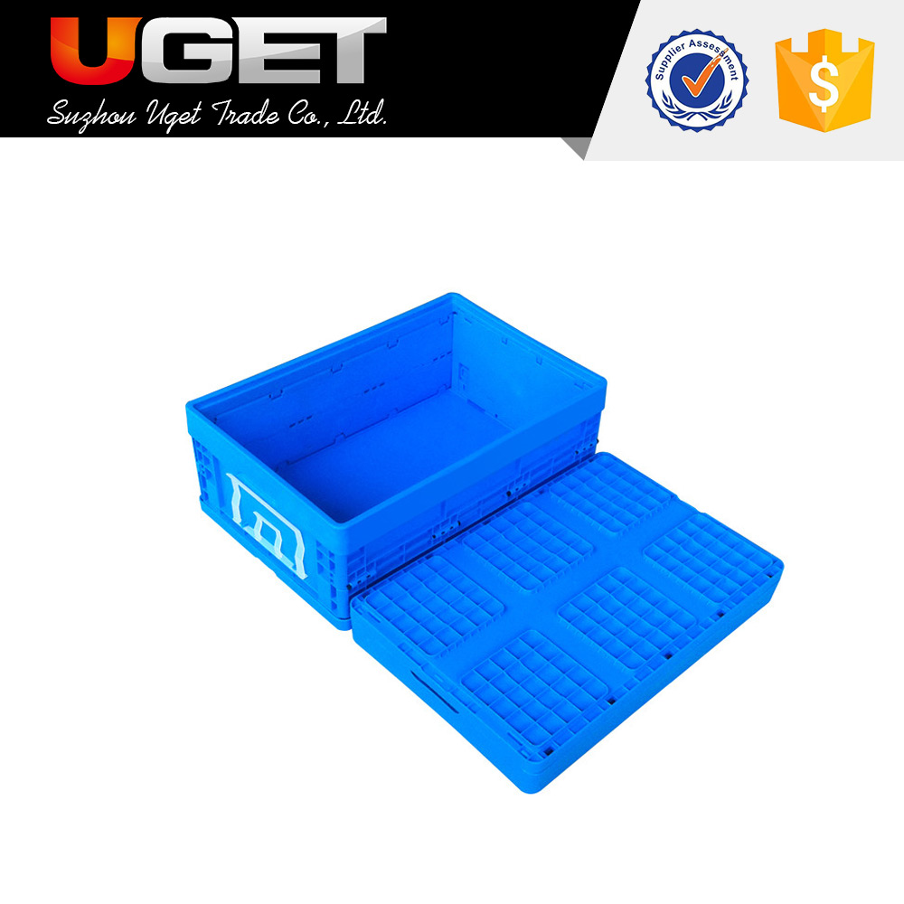 Can be recycled multipurpose nestable plastic crate attach lid