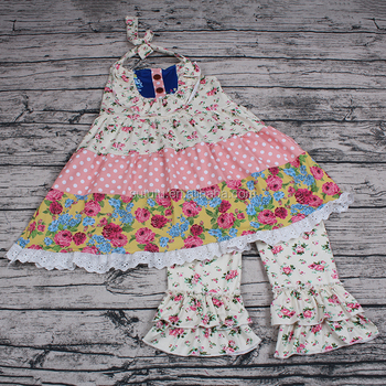 Sue Lucky Kids Girls Sleeveless bf image photo Slip Dress hangni Summer Custom wholesale children's boutique clothing