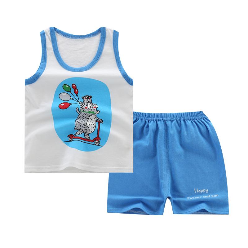 2019 子供服綿の服のセット卸売衣服のブティックの服
