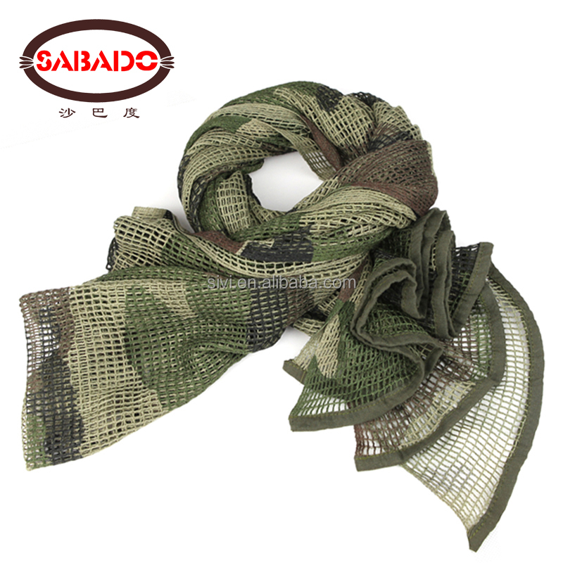 wholesale fashion Outdoor Millitary Tactical Digital Print Camouflage muslim scarf hijab