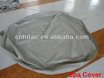Dustproof cold-resistant vinyl round spa cover
