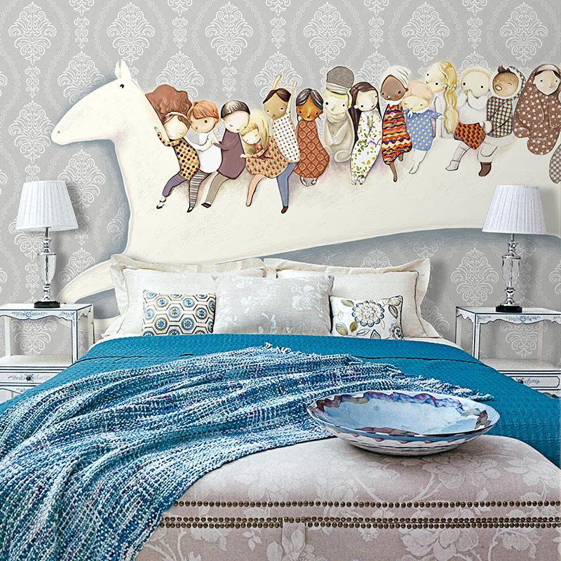 online kaufen gro handel pferd tapeten aus china pferd tapeten gro h ndler. Black Bedroom Furniture Sets. Home Design Ideas