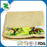China supplier cotton face hand towel with custom size