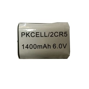 High Quality PKCELL 6V 1400mAh 2CR5 Li/MnO2 Li-Ion Lithium Primary Battery