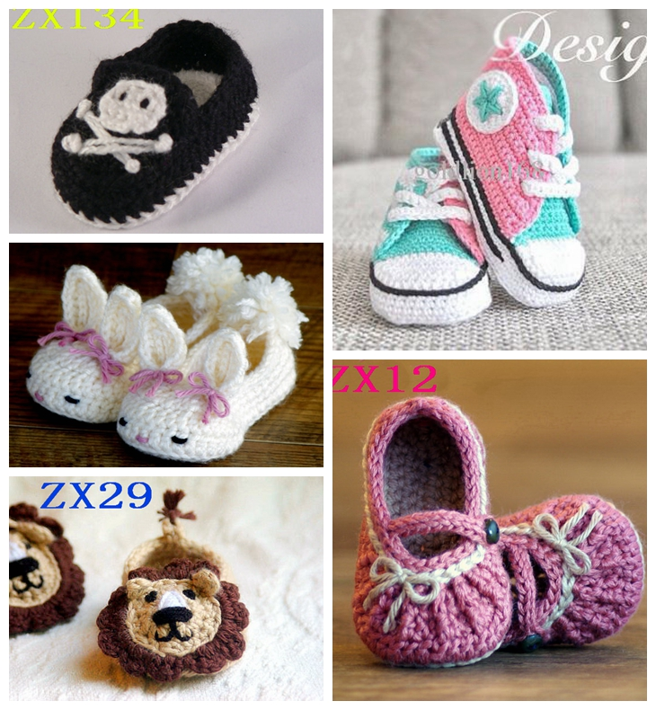 Crochet baby shoes Newborn baby slippers Baby casual shoes size 0 12M