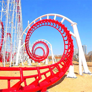 factory direct sellshot amusement /thrilling rides 6 loops roller coaster