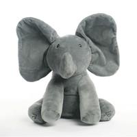 Free Dropshipping New Style Peek A Boo Elephant Stuffed Animals & Plush Elephant Doll Play Music Elephant Educational Anti-stres