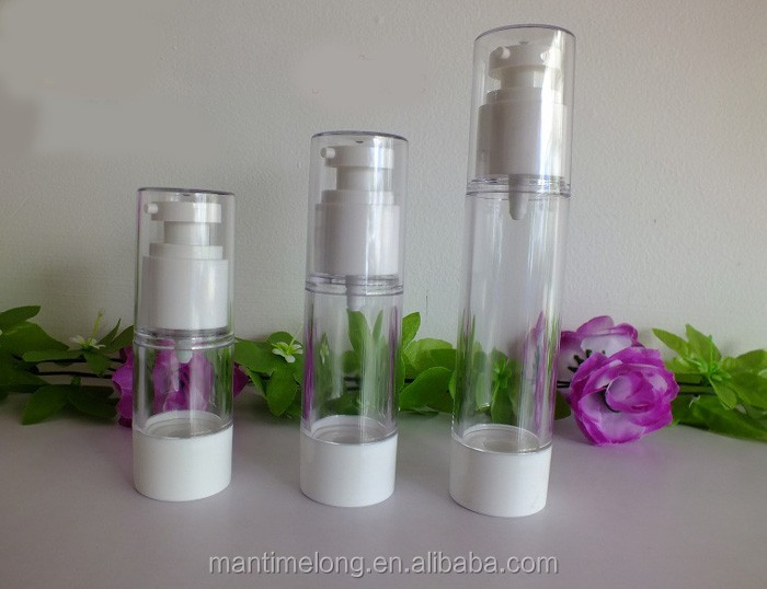 15ml, 30ml,50ml empty airless pump plastic bottles , DIY vacuum emulsion bottle