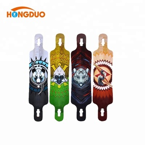 2015 hot sell 7 ply maple skateboard, heat transfer machine for skateboard