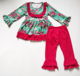Wholesale cute baby Christmas outfits kids clothing set girls fall boutique outfits