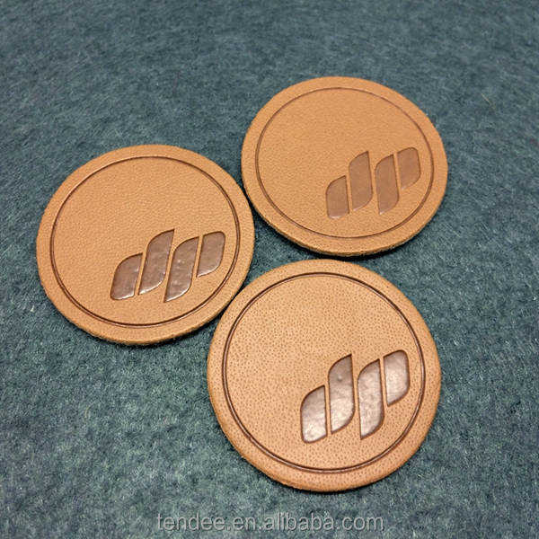 good quality metal leather label for jeans product