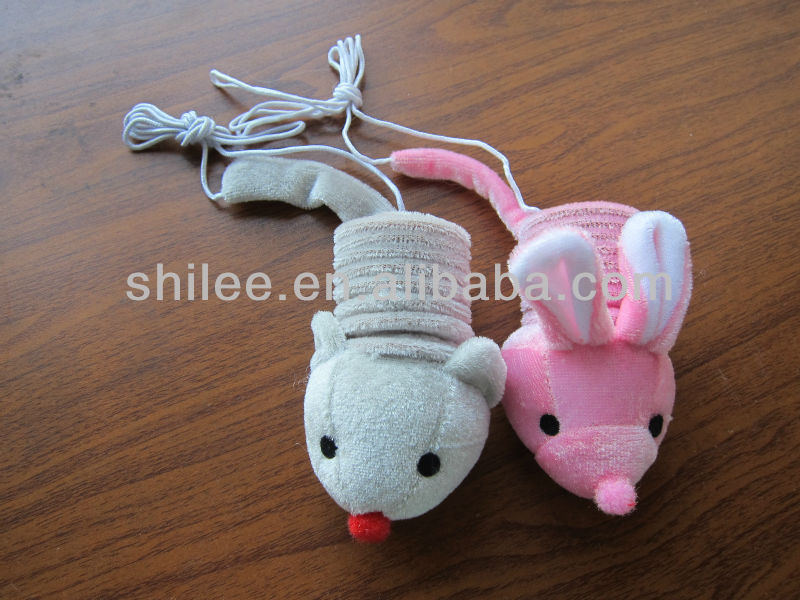 Spring cat toy in different colors