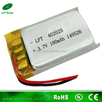 402025 batery 3.7v li-ion polymer battery 180mah for ipod touch 3 battery
