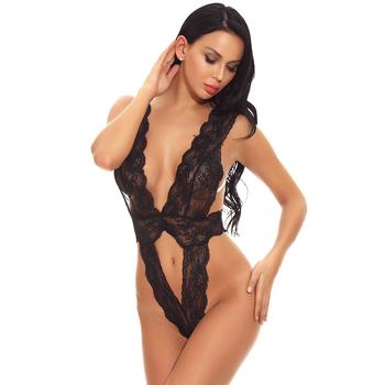 a0df3c05a 2018 Transparent Black Lace One Piece Babydoll Lingerie Women Sexy ...