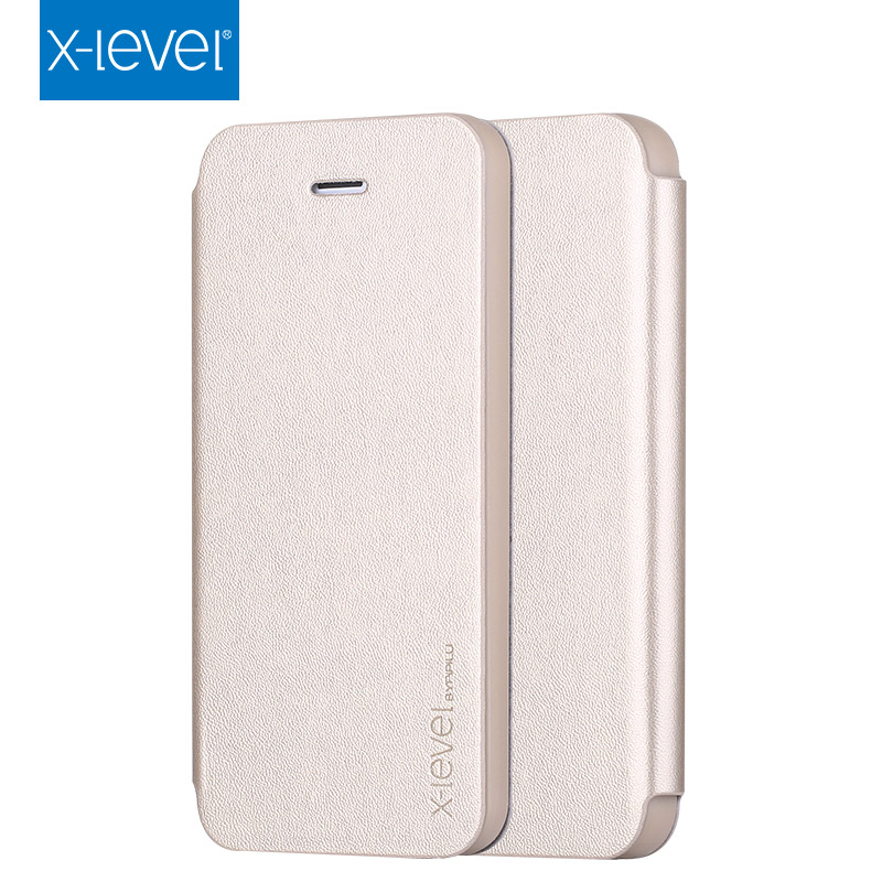 X-Level snugg mobile phone leather case flip cover wallet case for iphone5 5S