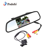 Podofo 4.3'' Car Rear View Mirror Monitor Waterproof CCD Video Auto Parking Assistance + 4LED Night Visions Rear View Camera