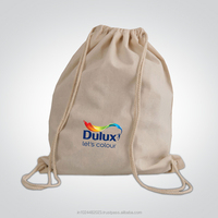 Unbleached Cotton Drawstring Bags(Cotton Shopping Bag with cotton string)