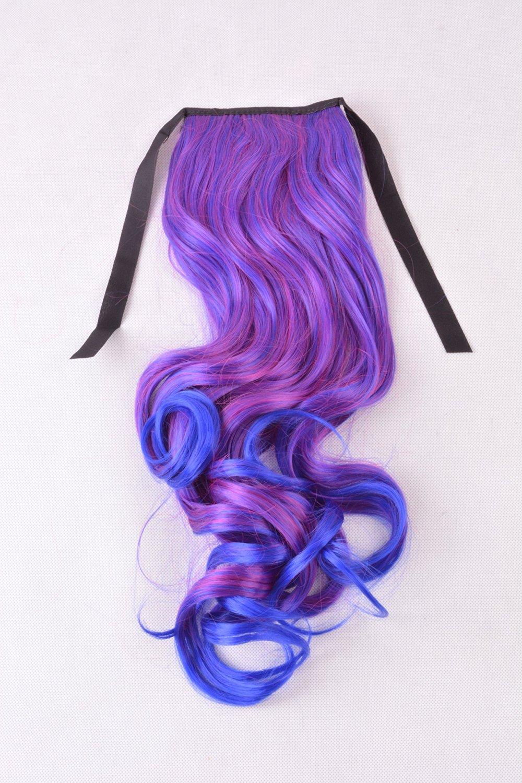 Buy Lycoris Women Lace Up Horsetail Long Hairpieces Gradient Color