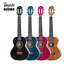 2019 colorate di Alta qualità corpo in <span class=keywords><strong>mogano</strong></span> tenore Hawaiana ukulele come un regalo di Natale