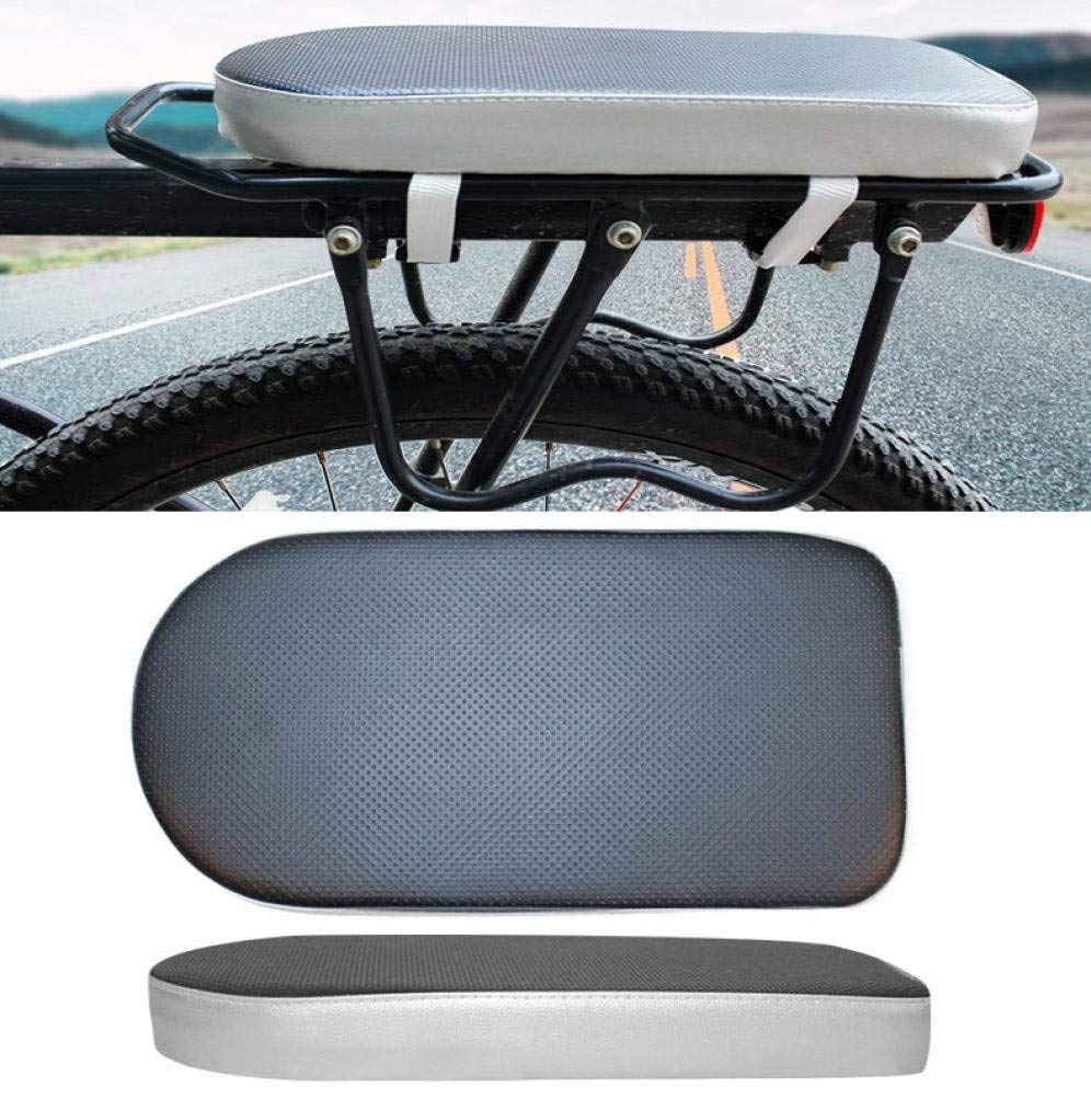 Quaanti New Comfortable Bike Bicycle Soft Cushion Seat Rear Rack for Adults Children Outdoor Sport Bag Bike Cycling Accessories (Black)
