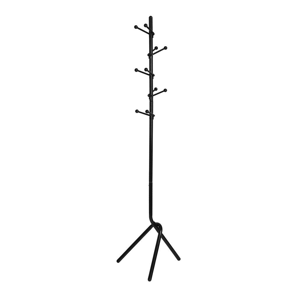 Homy Casa | Tree Branch Coat Rack | Entryway Clothes Hat Standing Hanger | Natural Nature Style | Metal (Black)