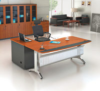 Office Desk design L shaped executive desk Stainless Steel office table